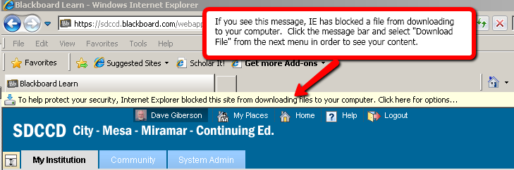access to files on blackboard